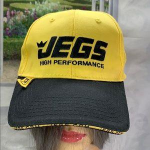 Jegs cap bright yellow edge of bill T1282 bg5